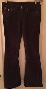 True Religion corduroy jeans size 26 brown/purple