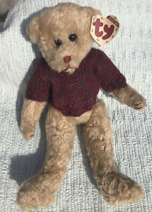 "Attic Treasure TY Collectible TYLER 11"" Jointed Teddy Bear PLUSH by Linda Harris"