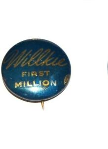 1940 WENDELL WILLKIE FIRST MILLION FDR campaign pin pinback button political