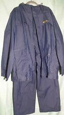 Columbia Men's Raincoat Windbreaker Hooded Jacket/Pants Vented Large L EUC 70D