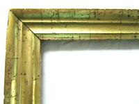 "SM Antique Fits 6 X 7"" Gold GILT Picture Frame Wood Fine Art MINIATURE COUNTRY"