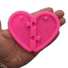 Large Puzzle Heart Resin Silicone Mold for Epoxy Resin Crafts