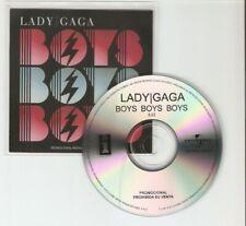 "LADY GAGA ""BOYS BOYS BOYS"" RARE 1 TRACK CD PROMO  - MINT"