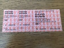 ticket concert Collector David Bowie Mai 1976