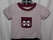 New NCAA MISSISSIPPI STATE BULLDOGS Child Toddler Size 2 ISHTEX STRIPED LOGO TEE