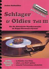 Harmonica-juego cuaderno sin notas: éxitos & oldies parte III-para Bluesharp