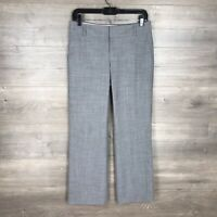Banana Republic Women's Size 2P Petite The Martin Fit Dress Pants Gray Wool