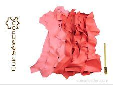 bcbbf21fae2 Lot 1 kg de chutes de cuir Chèvre roses peau souple - Cuir Sélection