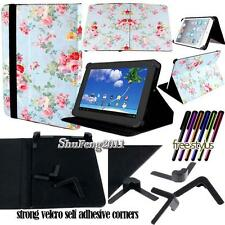 """Folio Stand Leather Cover Case For Various 7"""" 8"""" 10"""" Visual Land Prestige TABLET"""