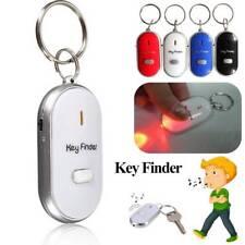 LED Key Finder Schlüsselanhänger Locator Sound Control Whistle-Schlüsselbund Neu