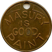 Masury Is Good Paint Savannah, Georgia GA Good Luck Key Tag Token