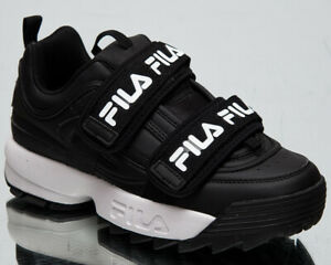 Fila Disruptor Straps Women's Black White Casual Chunky Lifestyle Sneakers Shoes