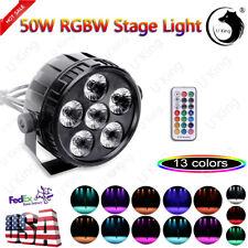 4 in 1 RGBW 6 LED Stage Lighting DMX PAR Light Party DJ Disco Lights Uplighter