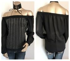 New Fashion Women's OFF SHOULDER  TOP---L----CUTE!!