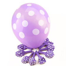 "12""X10 Polka Dot Baloons BALLOONS Latex Ballons Party Birthday Wedding Annivers"