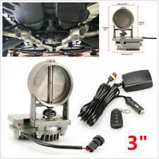 3 inch Car Fine Tuning Worm Exhaust Control Valve Electric w/ Remote Control Kit