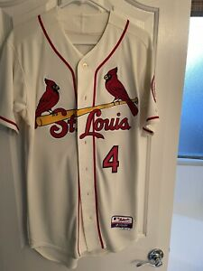 St Louis Cardinals Jersey Majestic Cool Base Stan Musial #6 Authentic - Molina