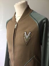 LOUIS VUITTON SILK BOMBER VVV JACKET JACKET SIZE L RUNWAY! NEW AUTHENTIC $2400