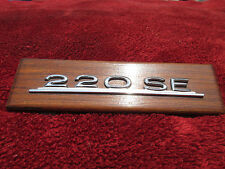 OEM Mercedes Benz 220SE Wooden Dash Plaque with Emblem and Attachment Hardware