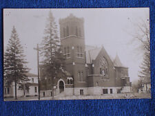 Waukon IA/Baptist Church/Hirth Sepia RPPC/AZO Stamp Box/Unposted