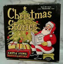 Vntg 8mm Film Fantasy A CHRISTMAS DREAM Santa Claus Tree Graphics B&W