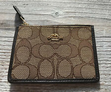 COACH NY Ladies Signature Mini Skinny Card Case ID Holder Wallet Black 64435