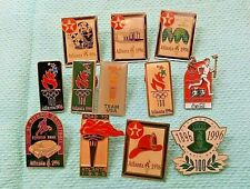 Atlanta 1996 Olympic Pins LOT OF 12 Excellent ConditionFree Shipping