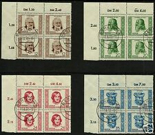 EAST GERMANY, (GDR/DDR), MICHEL N° 103-106 CANCELED TO ORDER (CTO)