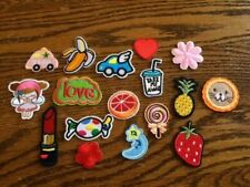 Cool Iron On or Sew On Patches, 1 Lot: Candy, Flowers, Cars, Fruit, Moon, Doll