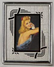 Vintage Art Deco Machine Age Easel Back Picture Frame Jules Erbit Pin-Up