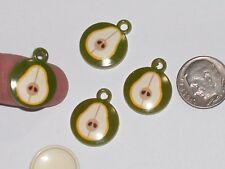 10pc New charm bead necklace miniature little pendant Vintage style pear fruit