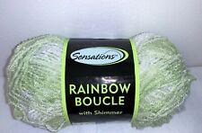 Sensations Rainbow Boucle Shimmer Yarn ~ Green Shimmer ~ 12 total oz ~Free Ship