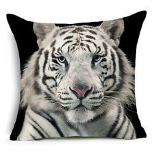 White Tiger Strong Cover Pillow Case Cushion Decor Home Polyester Sofa Animal