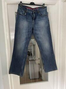 """Next Loose Fit Jeans 34R Regular 31 """" Leg Washed Denim"""