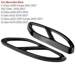 1 Pair Exhaust Pipe Tip Cover For Mercedes GLC C E Class W205 Coupe W246 W212