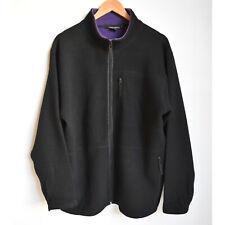 Trent Nathan Black Wool Blend Zip Coat Jacket M 12