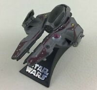 Star Wars Starship Obi-wan Jedi Starfighter Interceptor w Stand 2005 Lucas Films