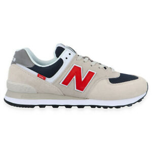 New Balance ML 574 SJ2 Shoes Beige Red