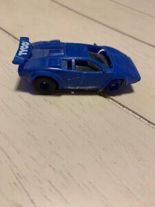 tyco lamborghini blue slot car
