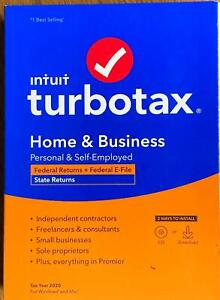 2020 TurboTax Home & Business Federal & State Turbo Tax New sealed CD in the Box