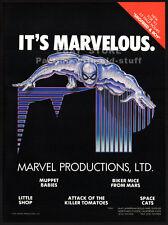 MARVEL PROD.__Original 1992 Trade AD promo__SPIDER-MAN__Biker Mice From Mars