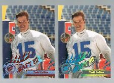 Lot of 2 TODD COLLINS #D219 Bills Michigan RC 1995  stadium club members only