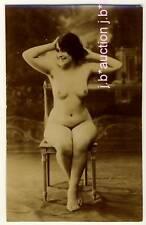 France nude Woman/acto estudio * vintage photo PC around 1900