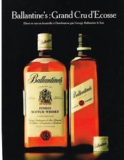 PUBLICITE ADVERTISING 1982  BALLANTINE'S  scotch whisky GRAND CRU D'ECOSSE