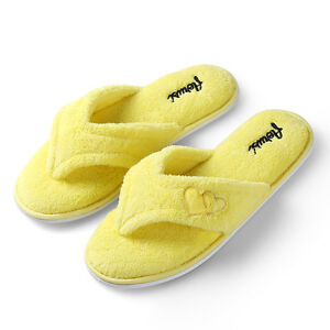 Women's Indoor Slippers Coral Fleece Plush Spa Thong Flip Flops House Shoes
