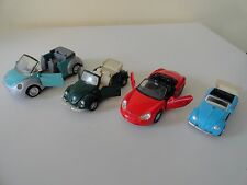 Collection of Convertible Diecast Pullback Toys lot of 4 Tin Toys Welly Maisto