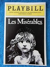 Les Miserables - Jackie Gleason Theatre Playbill - January 8th, 1989 - Barker