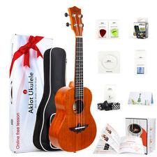 """Aklot 23"""" Solid Mahogany Concert Ukulele Starter Kit Ukelele Uke Hawaii Guitar"""