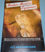 Sennheiser Musiker-Equipment Katalog ca. 80er Jahre, viele Bilder