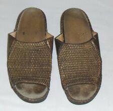 LA PLUME BRONZE LEATHER STRETCH SANDAL 10 41 women SLIDE MULE SLIP-ON BROWN shoe